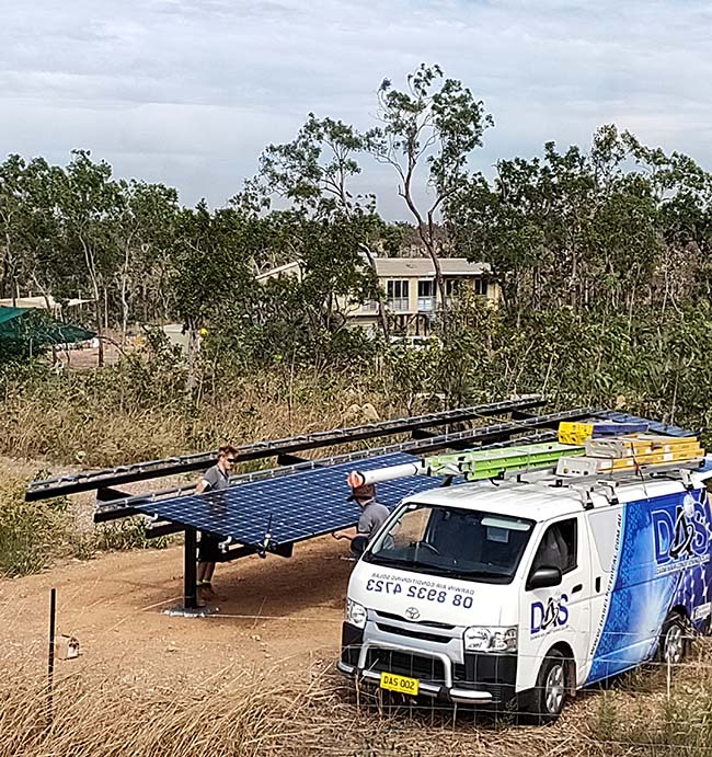 DAS Electrical Installing Solar Panels Near Darwin